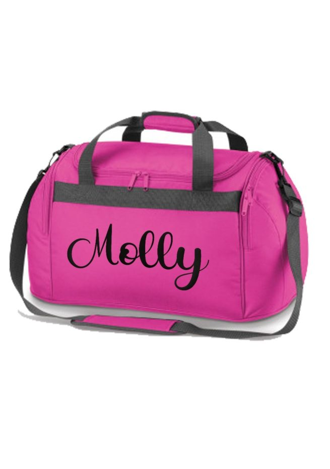PInk holdall with name