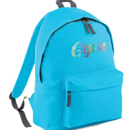 Turq backpack GYM print