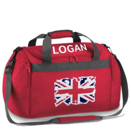 named Red holdall GB flag