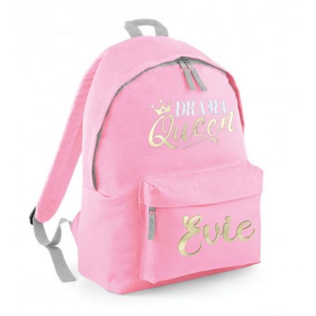 named pink backpack drama queen