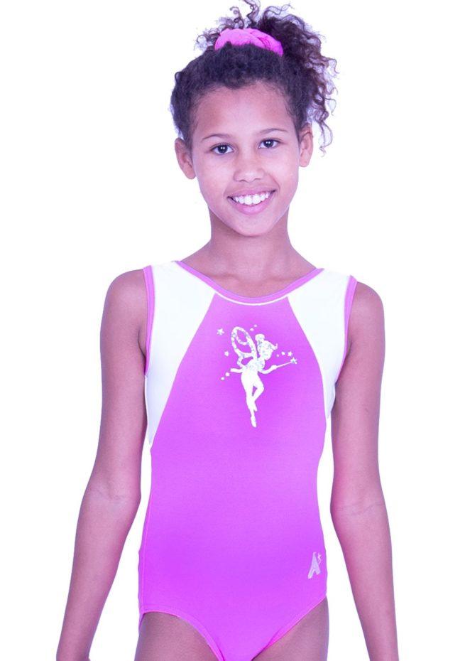 tinkerbell leotard pink lycra gym leo for girls