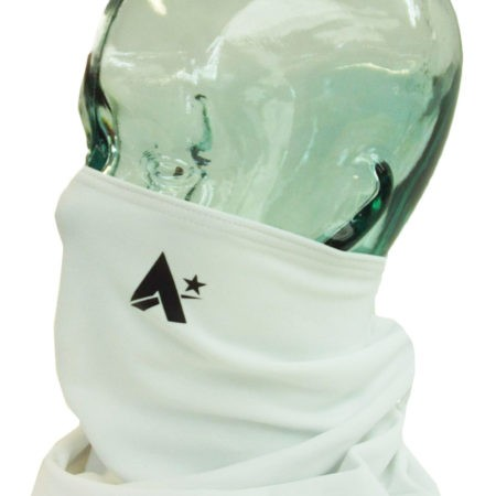 white microtex fleece snood facemask