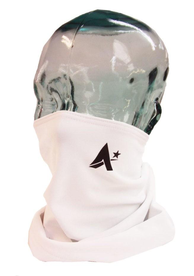 white snood face mask scarf unisex
