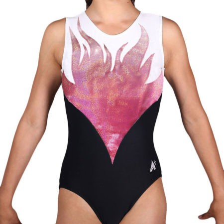Z343 ERIKA pink ombre girls gym leotard