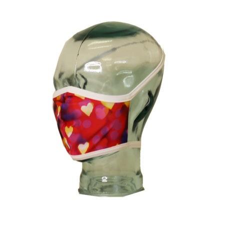 confetti hearts mask