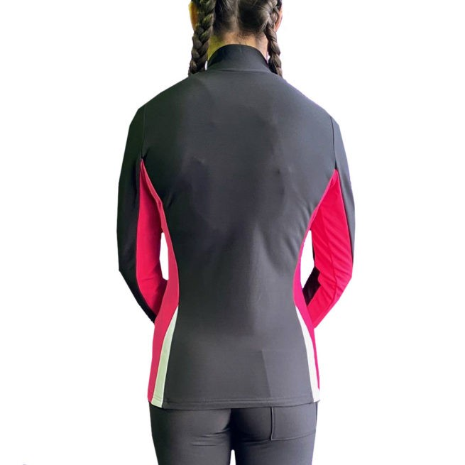 smart sports tracksuit jacket in black pink and white