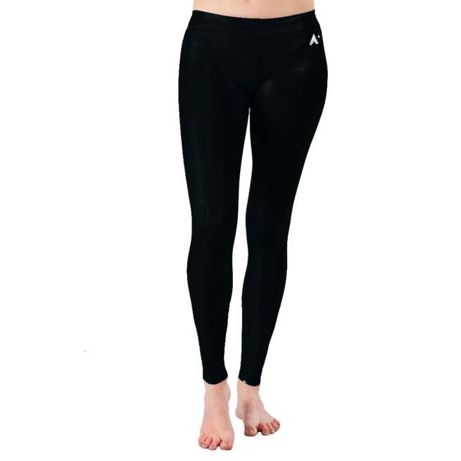 Black Shimmer ladies gymnastics full length leggings