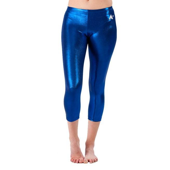 Navy Shimmer cropped leggings