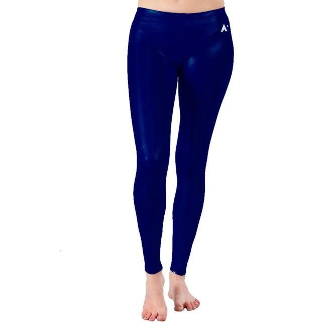 Navy shimmer full length leggings