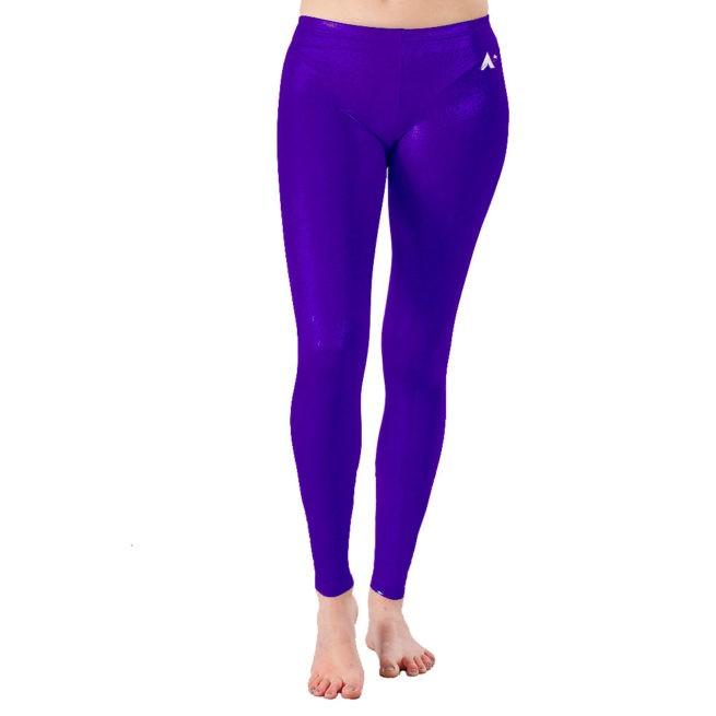 Plum purple Shimmer leggings ankle length