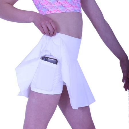SKPP8 white girls skort with pocket