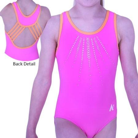 Z593N15 N55 fancy back gymnastics leotard for girls