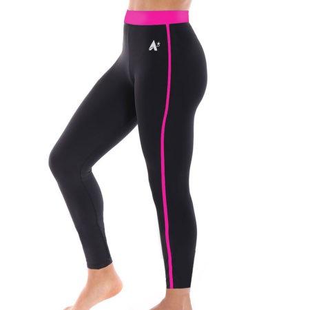 black FULL LENGTH workout leggings for gymnastics and dance