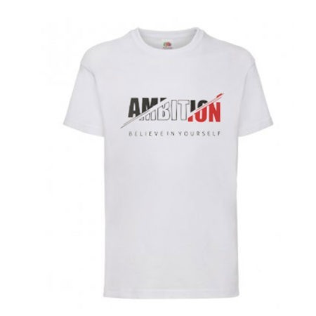 White motivational slogan t shirt sports top