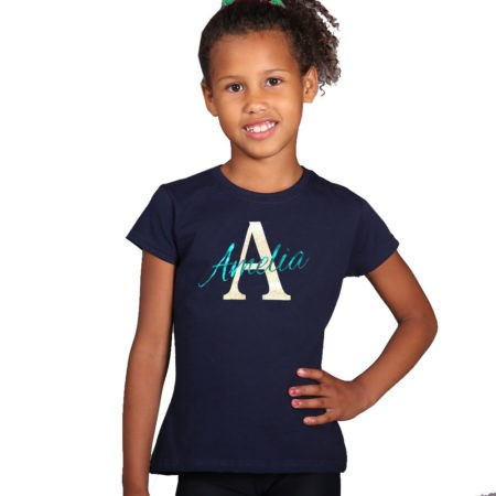Navy personalised t shirt