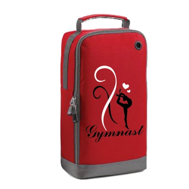 Shoe bag gymnastics red